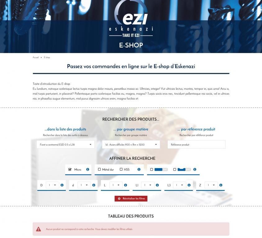 Réalisation du site e-commerce